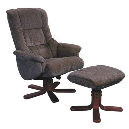 The Shangri-La – Chenille Fabric Swivel Recliner Chair