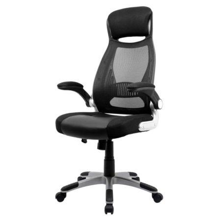 Intimate WM Heart Black Ergonomic Black Mesh High Back Padded Office Chair