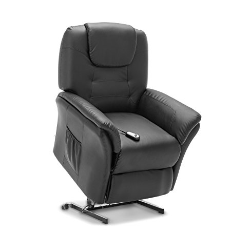Windsor Electric Rise Recliner Leather Armchair Sofa Home Lounge Chair