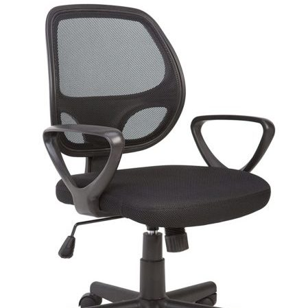 Office Essentials Mesh Back Swivel Desk Chair with Torsion Contr