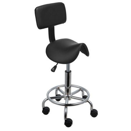 Voilamart Saddle Salon Massage Chair with Backrest Adjustable Swivel Hydraulic Gas Lift Ergonomic Stool