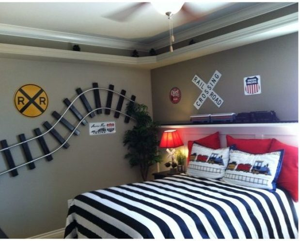 How to Decorate a Train Theme Bedroom: Design a Little Boy\'s ...